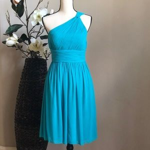 Donna Morgan Chiffon One Shoulder Dress